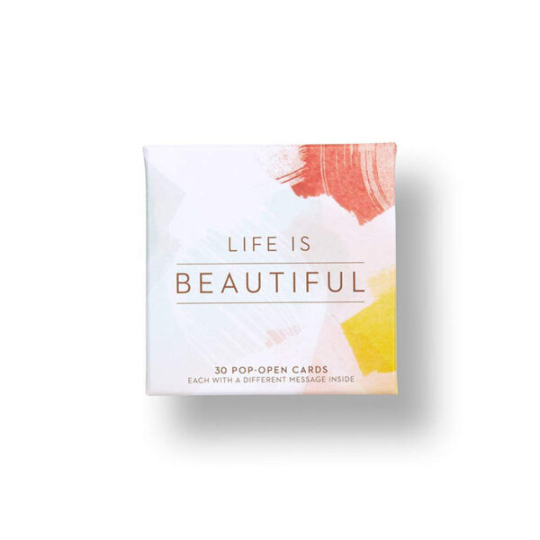 Life is Beautiful - thoughtfulls pop open cards
