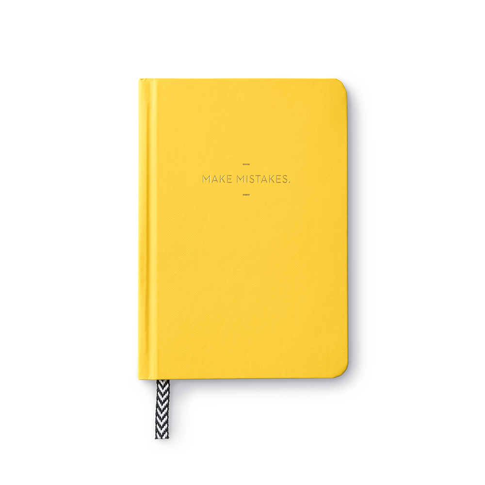Make Mistakes Motto Inspirational Journal