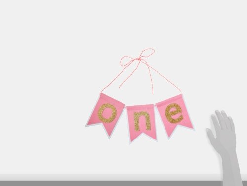 mud pie one pennant happy birthday girl high chair glitter banner