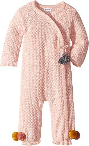 Mud Pie Womens Pointelle Kimono Tassel One-Piece Playwear (Infant)
