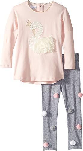 Mud Pie Womens Swan Long Sleeve Tunic & Legging Two-Piece Set (Infant/Toddler)